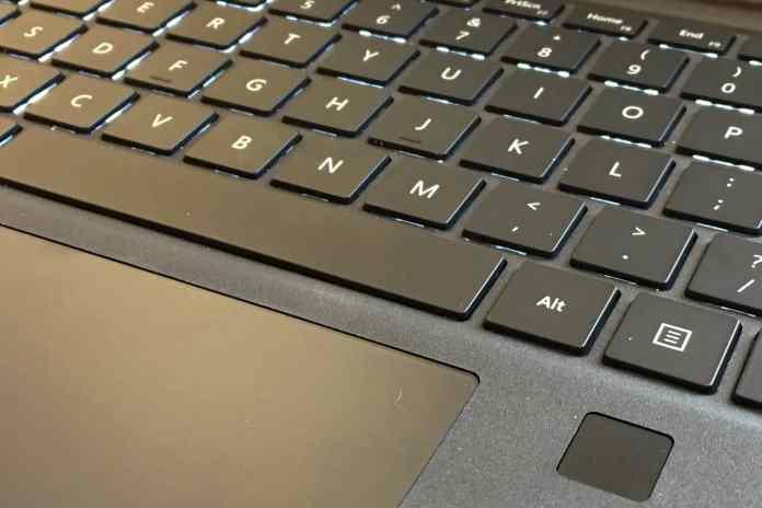 Microsoft Surface fingerprint