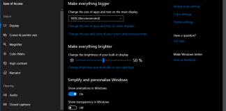 Windows 10 accessibility improvements