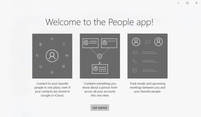 Windows 10 People app