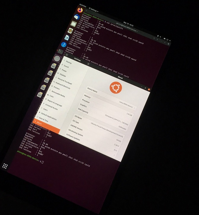 Lumia 950 XL with Linux