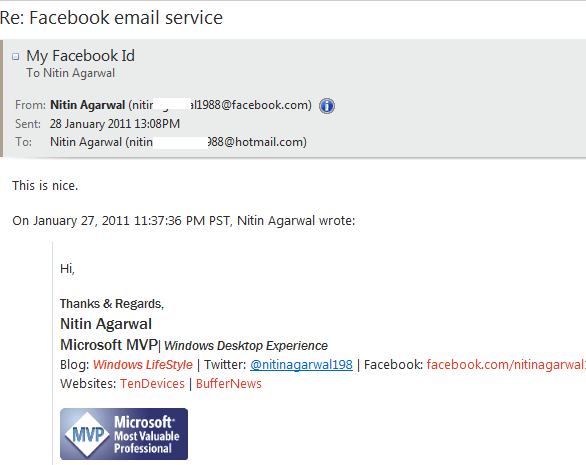 facebookemail account