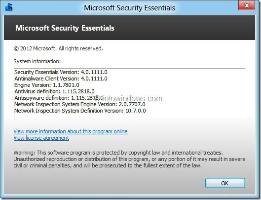 Microsoft Essential Security Beta 4.0