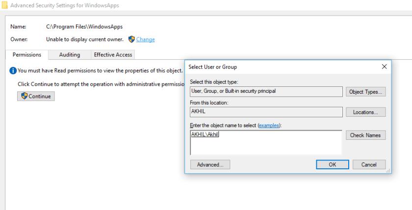 how-to-open-windowsapps-folder-in-windows10