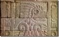 Ruinas in el patio mayor del templo de la mariposa, Teotihuacan (Carvings in the Courtyard of the Butterfly Temple, Teotihuacan)