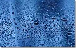 Rain-covered windshield