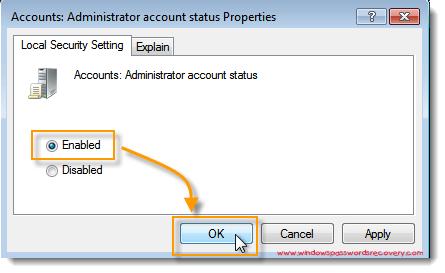administrator account status