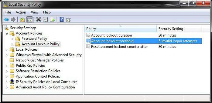 Local Security Policy 81