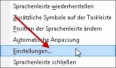 Windows 7: Sprachauswahl aus der Taskleiste entfernen 1