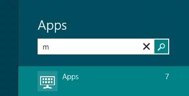 Suche unter Windows 8 0