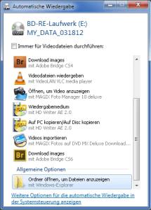 Automatische Wiedergabe unter Windows 7 deaktivieren 0