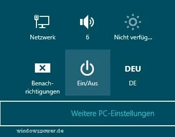 Windows 8 herunterfahren 0