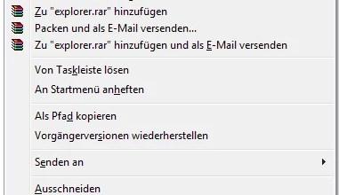 Pfad des Explorers ändern Windows 7 0