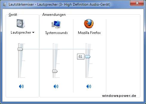 Bestimmte Programme zu leise oder geben keinen Ton unter Windows 7 0
