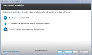 Mit Windows Defender Offline Rettungs-CD/DVD Viren, Schadsoftware, Rootkits entfernen 1
