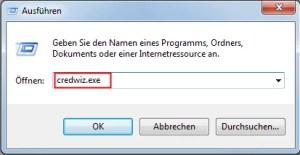Geheimen Assistenten für Passwörter verwenden Windows 7 1