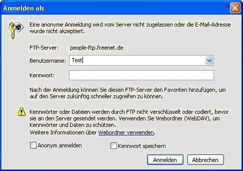 Upload mit dem Internet Explorer wie mit einem FTP – Programm 0
