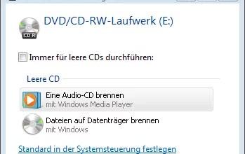 MP3 Dateien Brennen mit Windows Vista 0