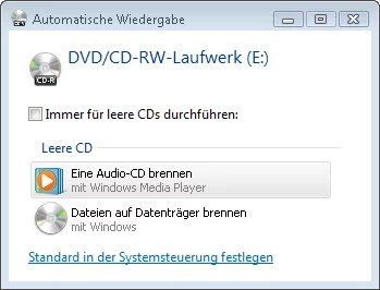 MP3 Dateien Brennen mit Windows Vista 0