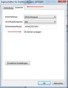 WLAN Passwort auslesen 4
