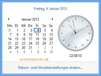 Windows 8 Sommerzeit anpassen 0