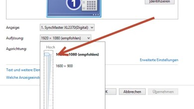 Windows 8 – Windows Bildschirmauflösung ändern 0