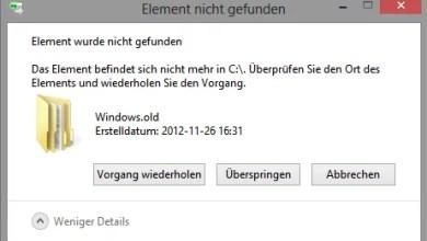 Photo of Windows.old löschen unter Windows 8