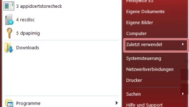 Photo of Windows 8 zuletzt verwendete Dokumente