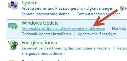 Update auf Automatischen Updates aktiveren oder deaktivieren