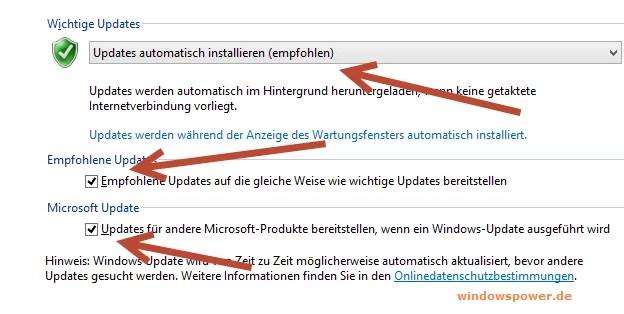 Updates  automatisch installieren