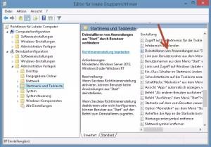 Deinstallieren von Anwendungen aus Start durch Benutzer verhindern