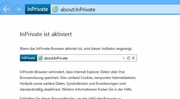 Internet Explorer 11  – Immer mit privat Modus starten 0