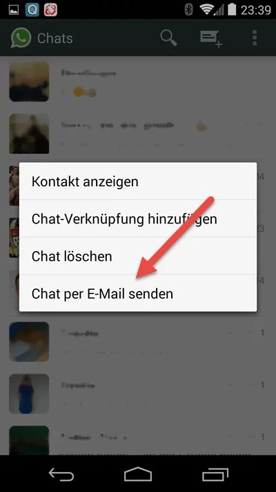 Android-chat-per-email-senden