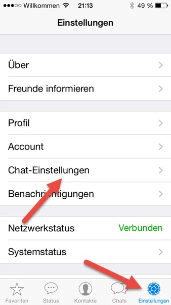 iphone-einstellungen