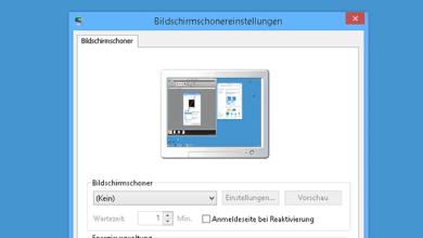 Bildschirmschoner deaktivieren oder aktivieren bei Windows 8.1 0