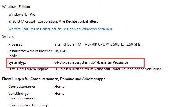 32 Bit oder 64 Bit – Welche Windows Version ist installiert? 0