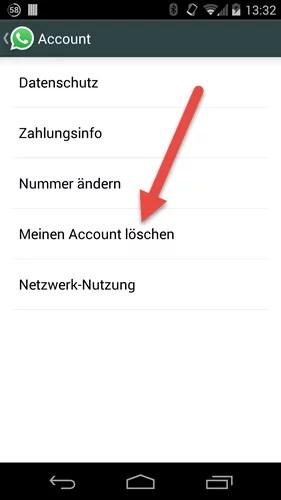 Android account loeschen