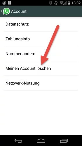 Android account loeschen