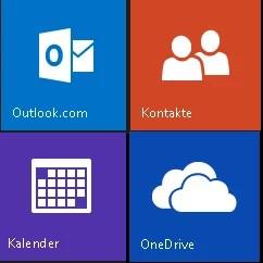 Outlook.com email-kontakte-kalender-onedrive