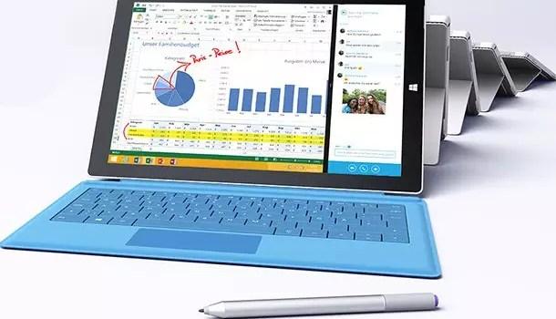 Allgemeine Informationen über das neue Laptop Surface 3 0