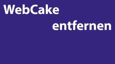 WebCake entfernen – löschen – deinstallieren 0