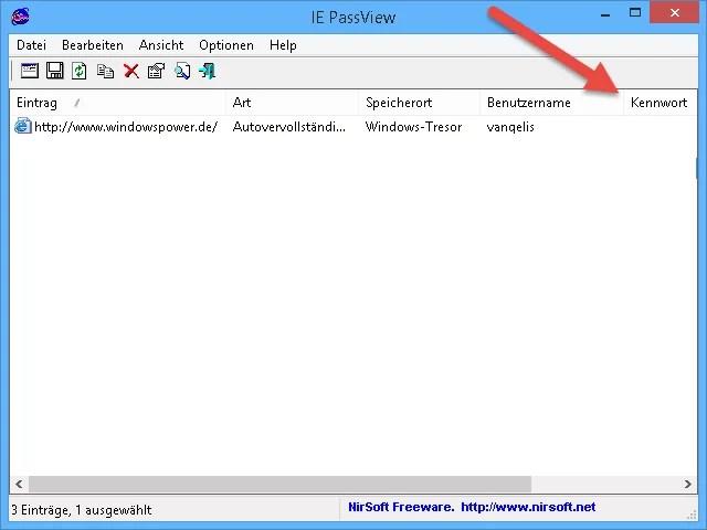 internet explorer gespeicherte passwörter