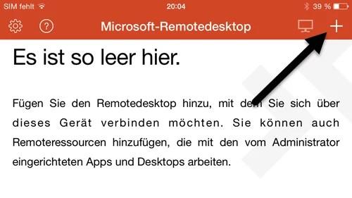Microsoft Remote Desktop App- iPhone einrichten