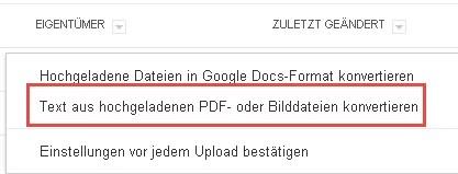 Text aus hochgeladenen PDF- oder Bilddateien konvertieren