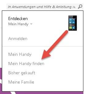 Windows Handy Finden