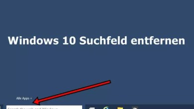 Photo of Windows 10 Suchfeld entfernen
