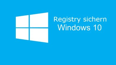 Photo of Windows 10 – Registry sichern, Backup erstellen