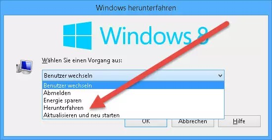 Windows Herunterfahren