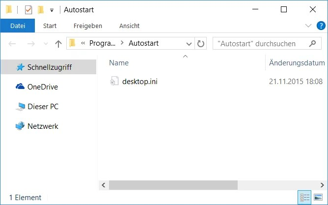 programm zum autostart hinzufügen windows 10