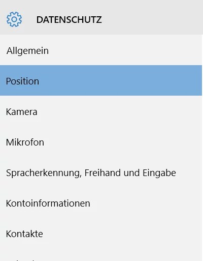 App-Berechtigungen position kamera mikrofon