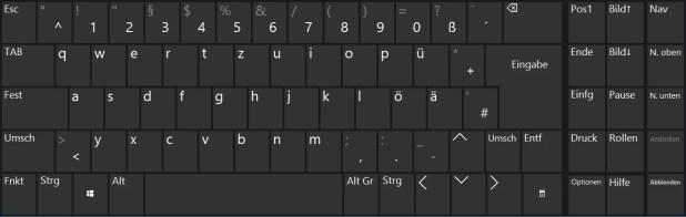 bildschirmtastatur windows 10
